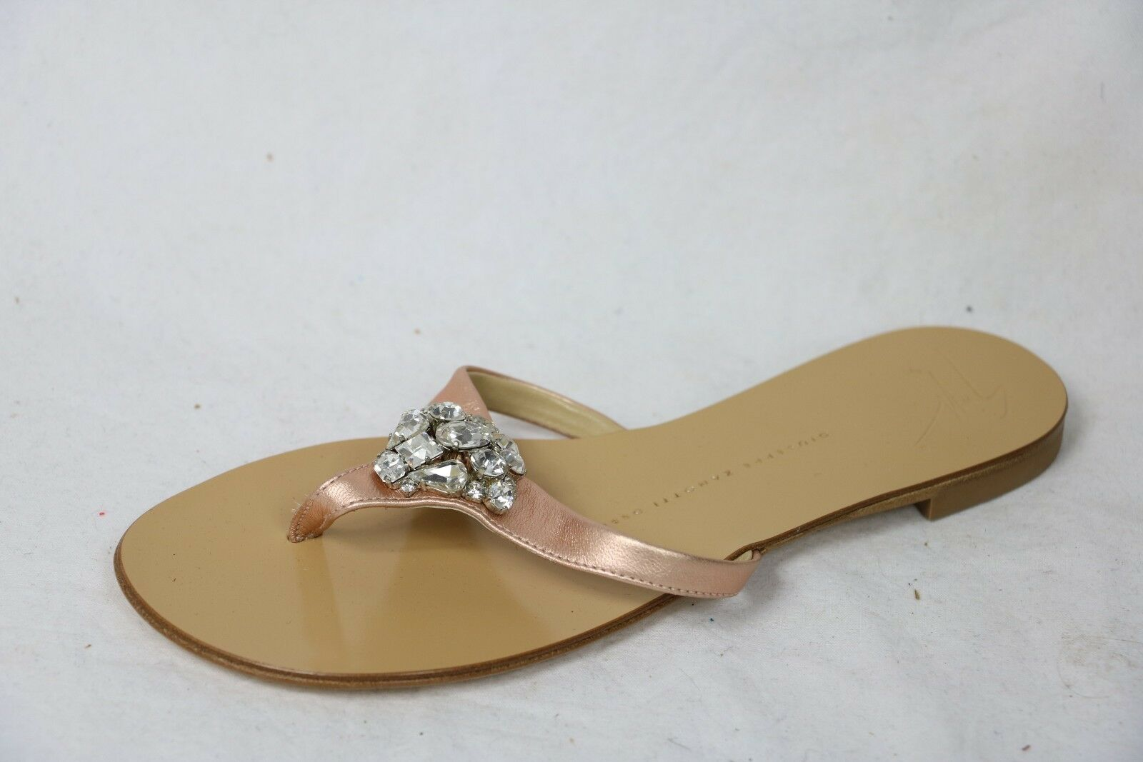 GIUSEPPE ZANOTTI chaussures slides rose cluster crystals 36.5