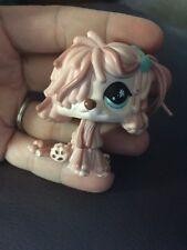 Littlest Pet Shop #830 Special Edition Pink Sheep Mop Dog with Splatter Eyes