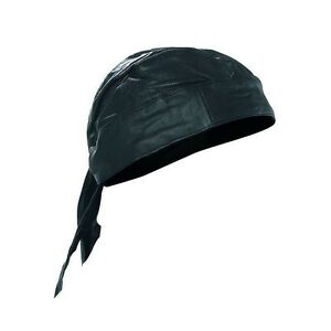 SOLID-LEATHER-Biker-Lined-SKULL-CAP-Motorcycle-Bandana-Head-Wrap-Du-Doo-Do-Rag