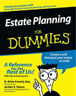 Estate Planning For Dummies by N. Brian Caverly, Jordan S. Simon (Paperback, 2003)
