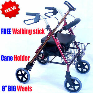 CA882-Caremax-Foldable-Aluminium-Rollator-Walker-Walking-Frame