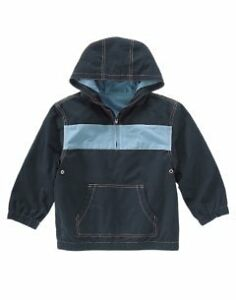 NWT Gymboree Boys Hooded Pullover Jacket S 5-6