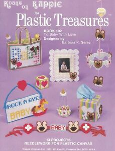 Kappie-PLASTIC-TREASURES-Book-102-To-Baby-with-Love-13-Plastic-Canvas-Designs