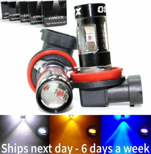 2x New Boxed 30w/60w High Power LED Fog/Driving Light Replacement Bulbs in H3 H8