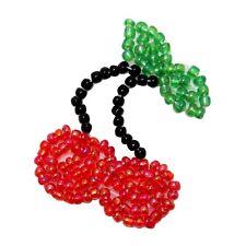 ID 9117 Wild Cherry Lucky Slot Machine Stem Fruit Beaded Iron On Applique Patch