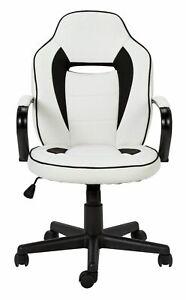 Argos Home Mid Back Gaming Chair - White & Black - E53