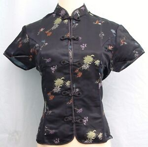 Traditional-Chinese-Style-Brocade-Blouse-Size-XL-Plus-XXL
