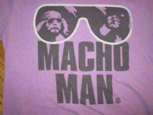 Classic-RANDY-MACHO-MAN-SAVAGE-T-SHIRT-Purple-Sunglasses-Retro-WWF-Wrestling-LG