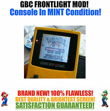 Nintendo Game Boy Color GBC Frontlight Front Light Frontlit Mod Yellow MINT NEW