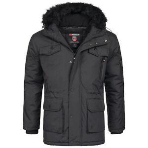 Details about Geographical Norway Kula Mens Winter Jacket Parka Parker Faux Fur show original title