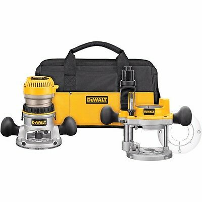 DeWALT 2-1/4 HP Electronic Variable Speed Fixed Base and Plunge Router Combo Kit