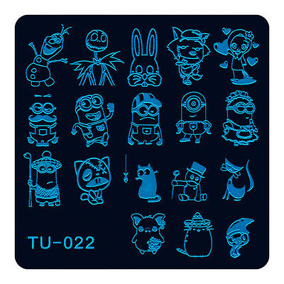 Stamping Manicure Image Nail Art Image Stamp Template Tool Plate Polish DIY U-22