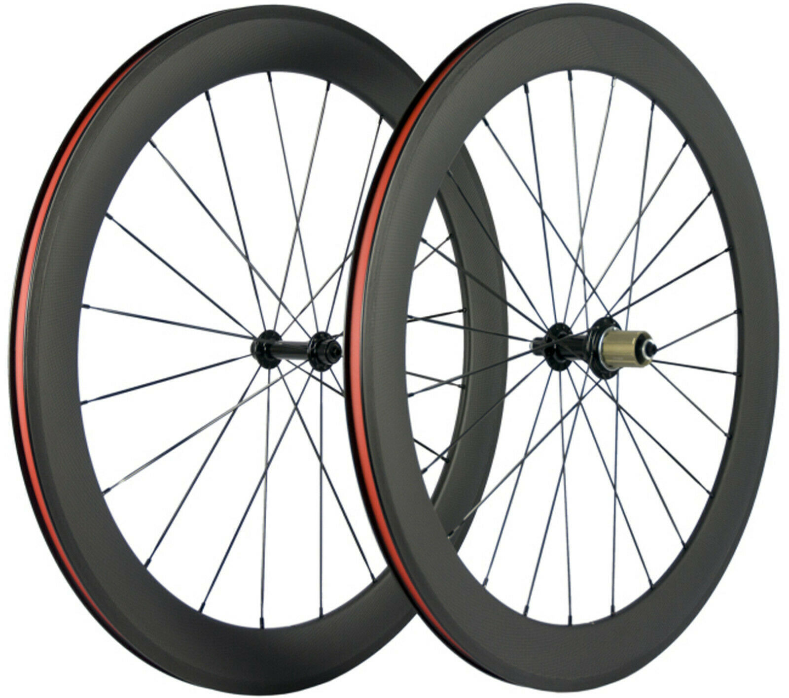 700C Bicycle Carbon Wheels 60mm Depth 25mm U Shape Cyclocross Bike Wheelset Matt