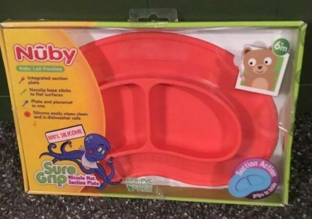 Red Nuby Sure Grip Miracle Mat