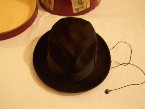 Borsalino Fedora felt dress hat 1950s vintage hat man bronze man hat bronze man hat chapeau homme