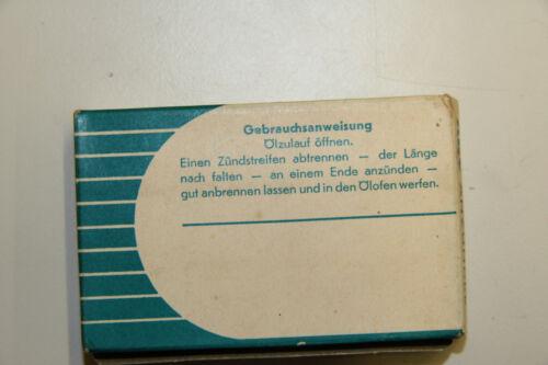 alte ABC Ölofen Anzünder Oelofenanzünder 100 Streifen
