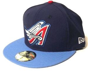 New Era Los Angeles Angels Hat Cap 5950 Fitted Navy Blue 1997 ... ca1332cb927d