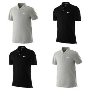 Nike-Classic-Mens-SS-Pique-Polo-Shirt-Casual-Black-Grey