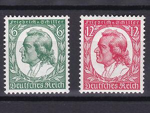 1934-Geburtstag-von-Friedrich-Schiller-Postfrisch-MNH-554-555-100