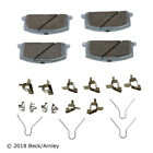 Disc Brake Pad and Hardware Kit Front Beck/Arnley 085-6220