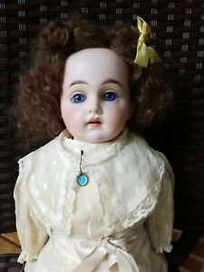 22-034-Cuno-amp-Otto-Dressel-Antique-German-Bisque-head-Doll-all-original