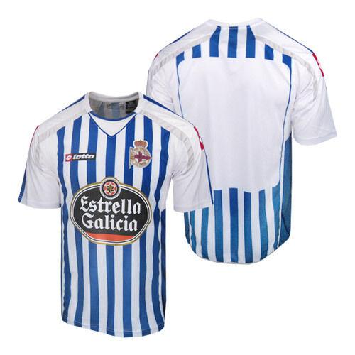 Poco común  Lotto Deportivo Los Angeles Coruña España Fútbol Fútbol Camiseta Jersey Futbol  para hombre XL