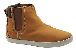 Timberland-Glastenbury-Chelsea-Stivali-da-donna-scarpe-caviglia-cuoio-GRANO