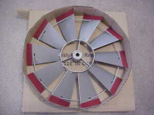 REPLACEMENT-22-l-2-034-FAN-ONLY-Silver-RedTips-for-8-ft-Tall-Steel-Windmill-20