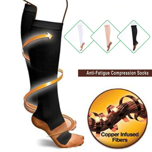 Unisex Kompression Socken Flugreisen Anti-Fatigue Kniestrümpfe Socken   NEU.