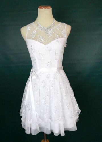 NEW Windsor $90 White Strapless Juniors Party Cocktail Formal Dress Size 7