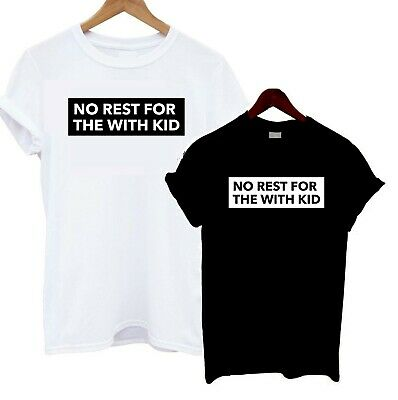 No Rest For The With Kid T Shirt Funny Joke Tee Statement Slogan Tired Mama Gift Blusen, Tops & Shirts