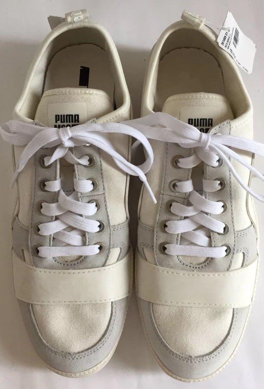 Nuevo Puma McQ zapatillas Blanco lona Whisper servir corte bajo lona Blanco 9 hombres zapatos Limited 44bd7b