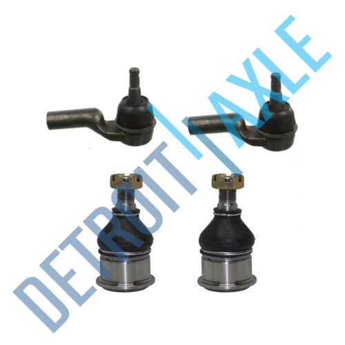 2 New Outer Tie Rod End 2 New Lower Ball Joints 4 pc Set