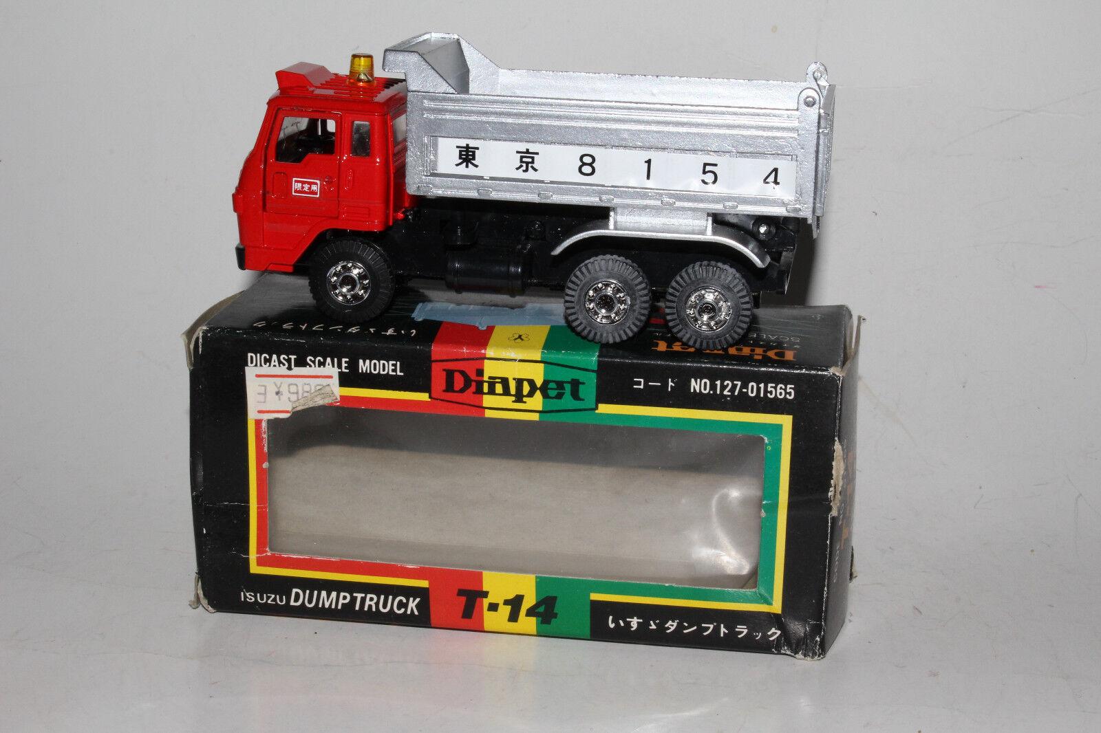 barato y de moda Diapet Yonezawa Diecast Diecast Diecast T-14 Isuzu Dump Truck, Excelente, En Caja  gran descuento