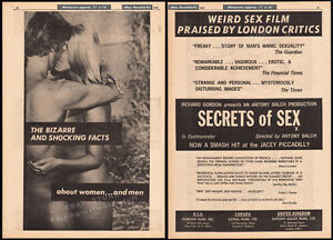 SECRETS-OF-SEX-aka-BIZARRE-Original-1970-Trade-AD-promo-poster-ANTONY-BALCH
