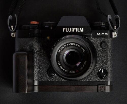 Bresson Hand Made Ebony Wood Wooden Hand Grip for Fuji Fujifilm XT3 X-T3