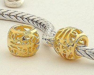 regalo Original masivamente 925 plata oro bead red