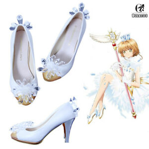 4e801ba63a8a Details about Card Captor Sakura Clear Card Crystal High Heels Shose Pumps  Cosplay Shoes Props