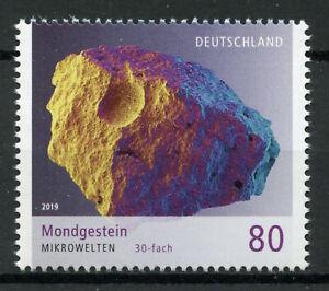 Germania-2019-Gomma-integra-non-linguellato-MICROWORLD-Moonstone-1v-Set-SCIENZA-minerali-FRANCOBOLLI