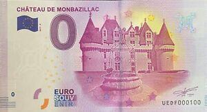 BILLET-0-EURO-CHATEAU-DE-MONTBAZILLAC-FRANCE-2017-NUMERO-100