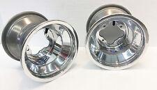 """DWT Polished A5 Rolled Lip ATV Rear Wheel PAIR 9"""" 9x8 3+5 4/110 TRX 250R 450R"""
