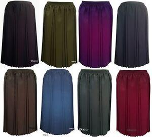 Konstruktiv Black Red Pleated Skirt For The Older Women Ladies New Vintage Old Style Skirts Schmerzen Haben Kleidung & Accessoires
