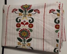 Scandinavian/German White Duvet Cover Twin Size White Red Flower