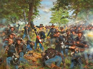 034-Black-Hats-19th-Indiana-Regt-Iron-Brigade-at-Gettysburg-034-Don-Troiani-Print