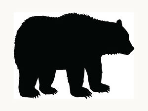 Bear-Sticker-Grizzly-Black-Outdoors-Wild-Car-Window-Laptop-Vinyl-Decal-Cool-Gift