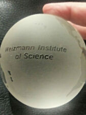 Weizmann Institute of Science Israel University World Globe Frosted Glass Paperw