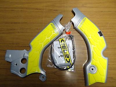 New Acerbis Frame Guards RMZ 450 08-17 Protectors X Grip Grey/Yellow Inner 290