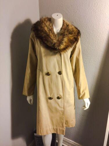 Vintage Neiman Marcus MOD 60's Fox Fur Collar Pea