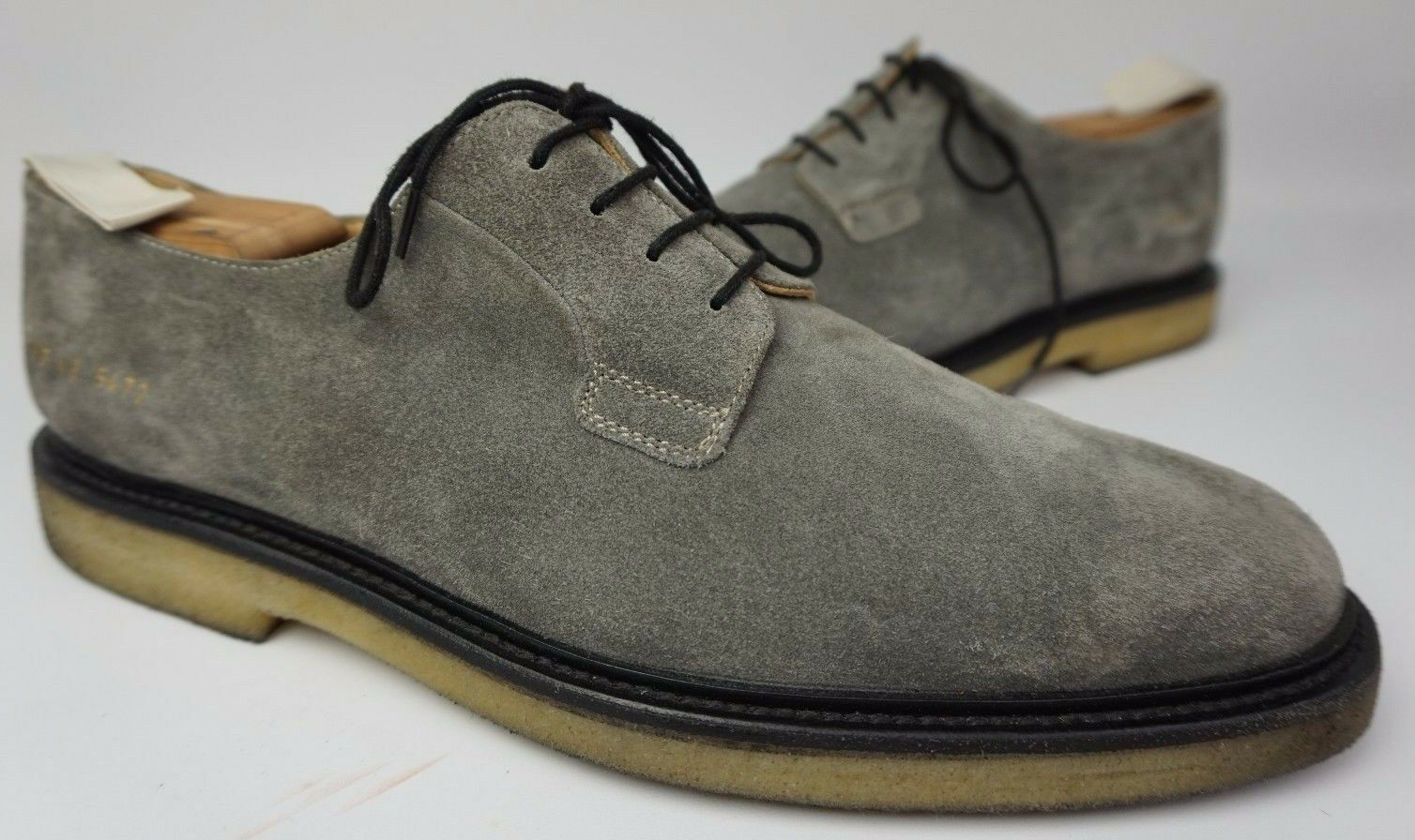 Common Projects Cadet Derby Dark Grey Suede Shoes Size 43 EU / 10 US