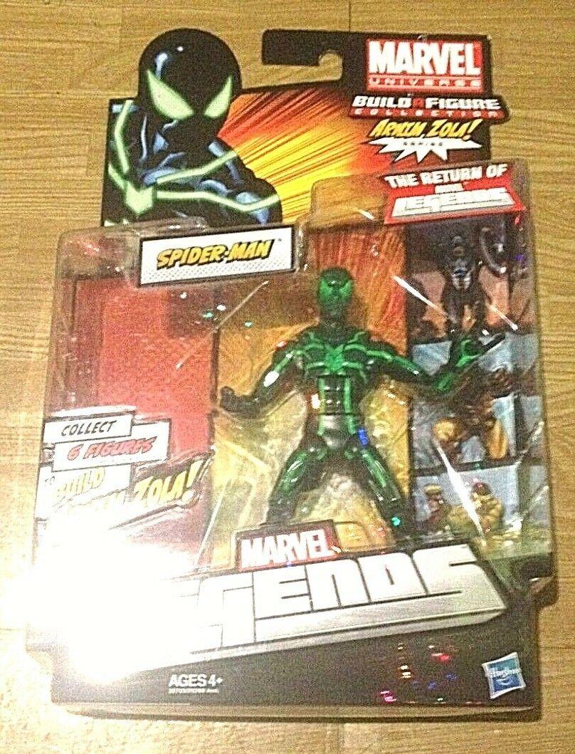 Gree Time  Spider-uomo verde Variant Marvel Legends classeeics Arnim Zola Fig Hasbro  nessun minimo